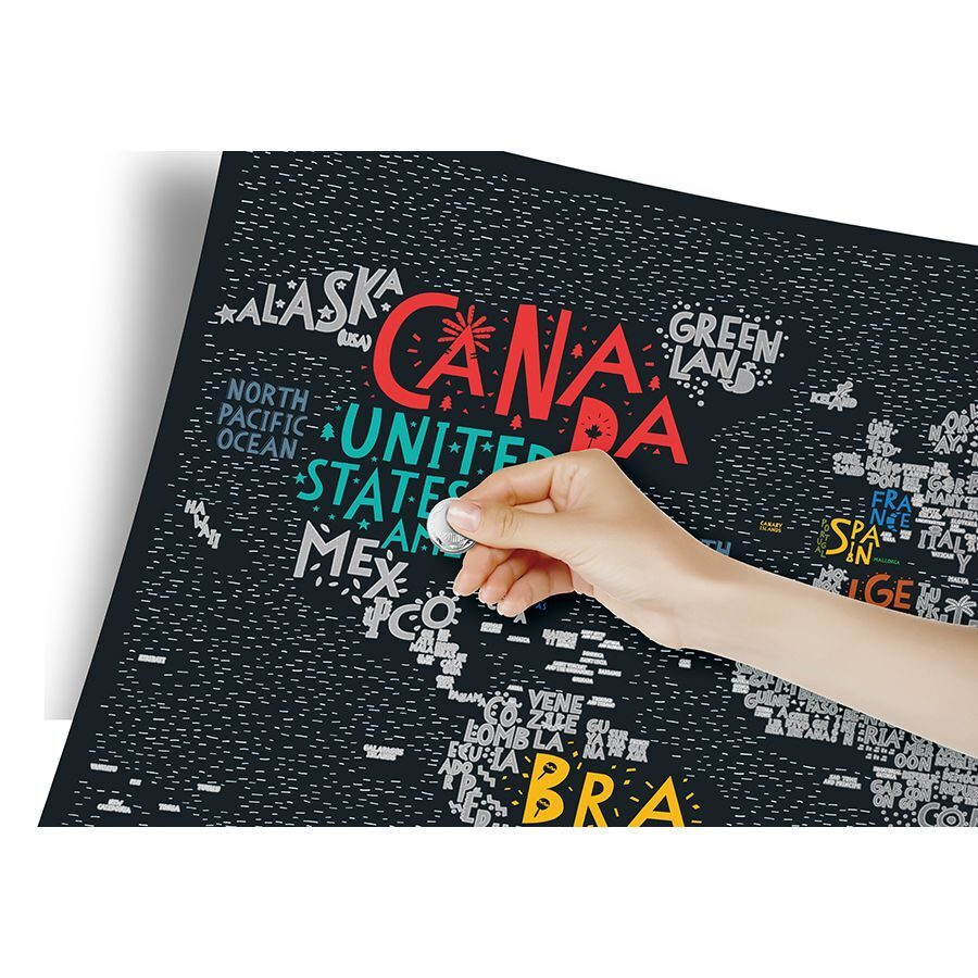 Карта Travel Map Letters World